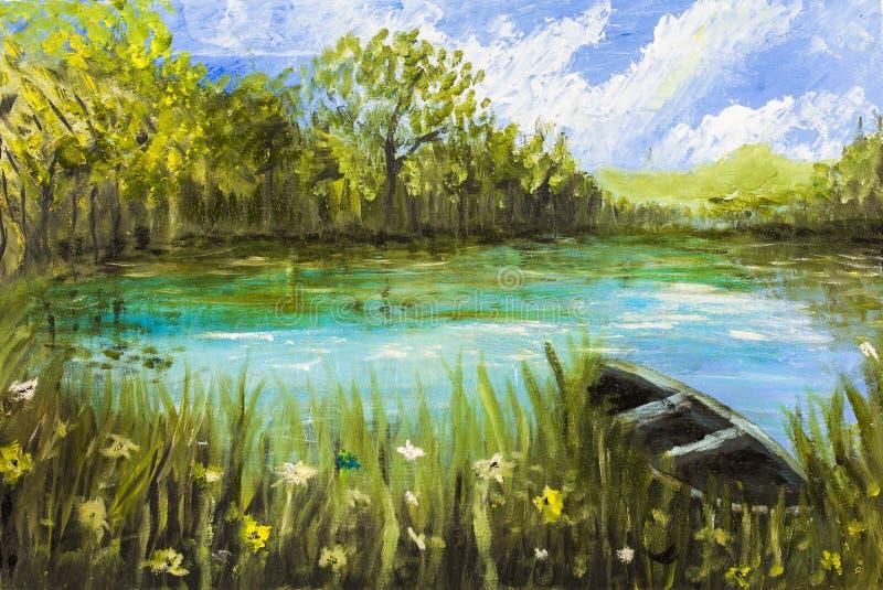 Pintura de óleo ilustração royalty free