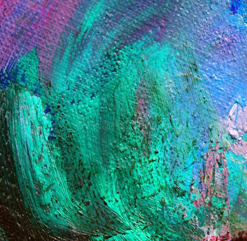 Pintura de óleo em uma lona, fundo abstrato ilustração do vetor