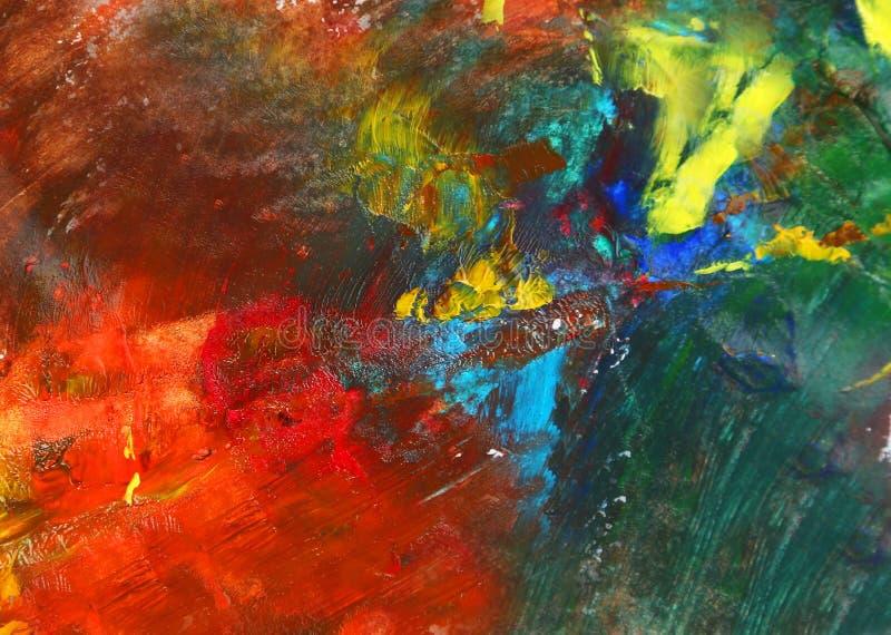 Pintura de aceite ilustración del vector