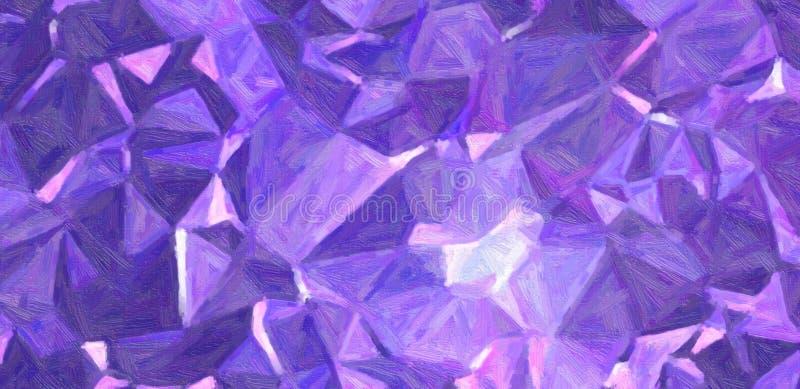 Pintura de aceite azul marino y púrpura con el ejemplo del fondo del cepillo del bristie ilustración del vector
