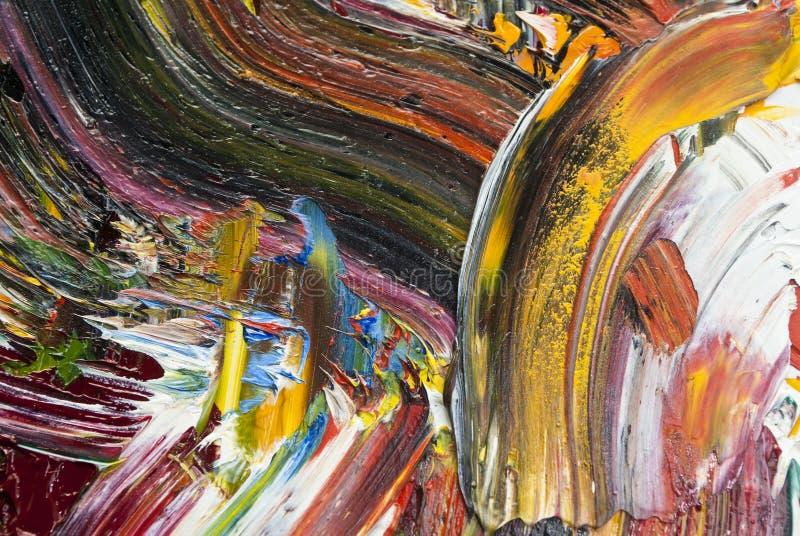 Pintura de aceite como fondo imagen de archivo libre de regalías