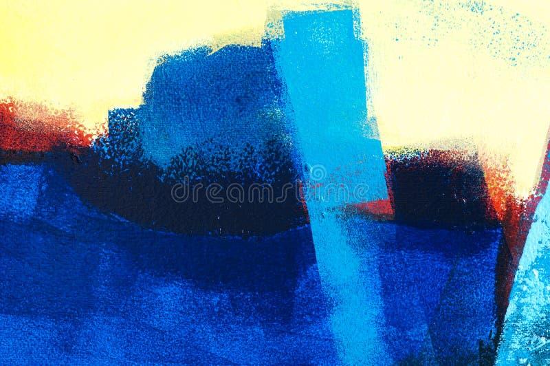 Pintura de acrílico abstracta ilustración del vector