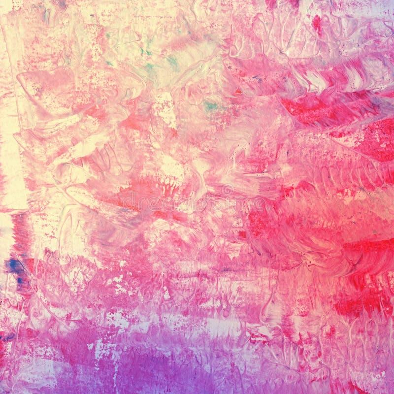 Pintura de acrílico de la acuarela abstracta colorida fotos de archivo libres de regalías