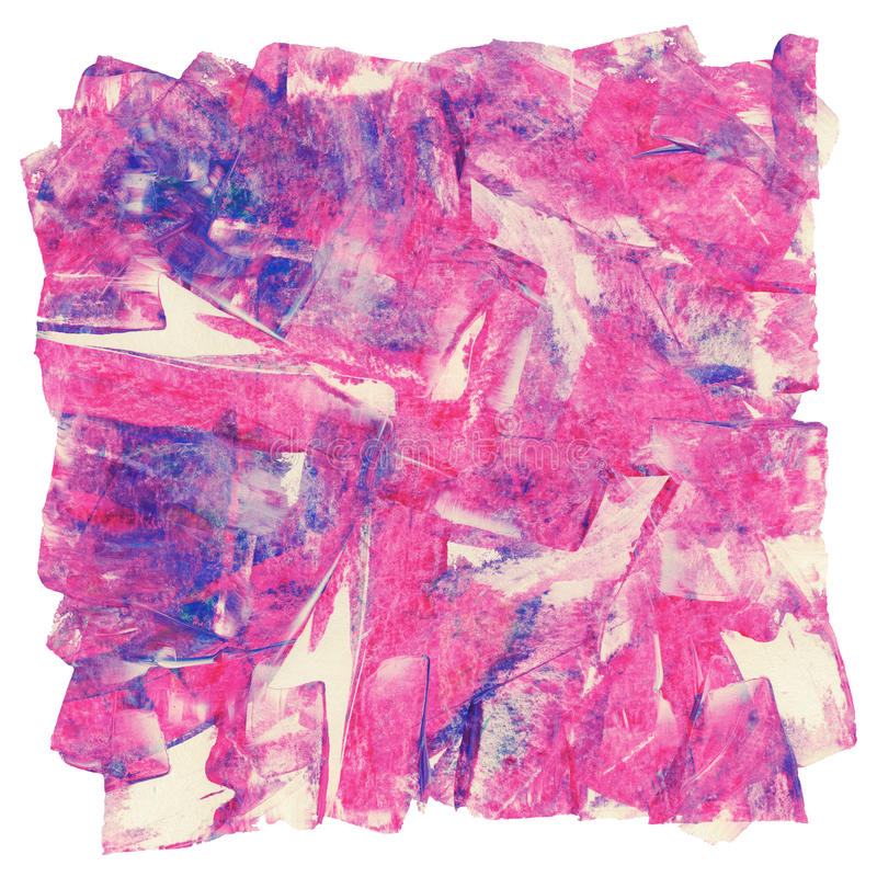 Pintura de acrílico de la acuarela abstracta colorida ilustración del vector