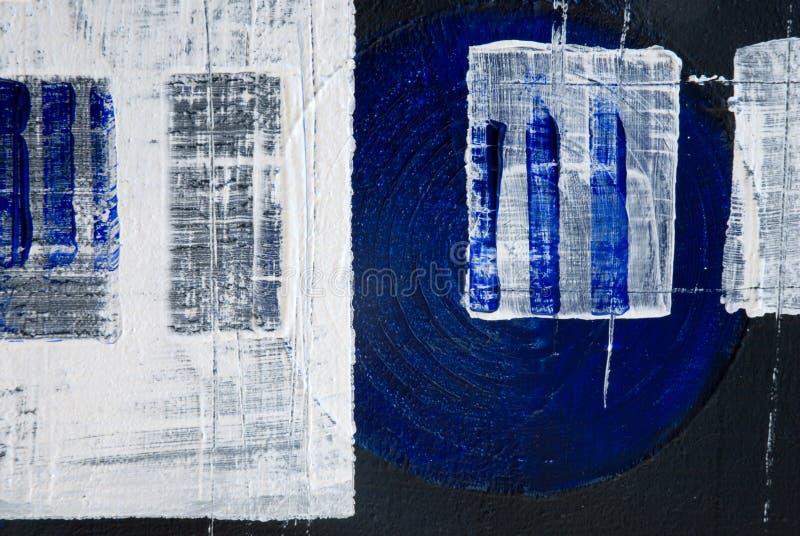 Pintura de acrílico del negro azul ilustración del vector