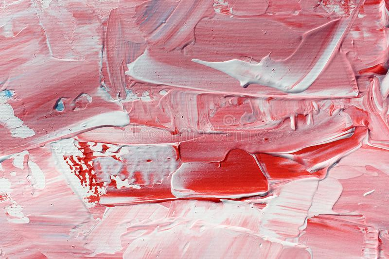 Pintura de acrílico dibujada mano Fondo del arte abstracto Pintura de acrílico en lona Textura del color pinceladas imagen de archivo
