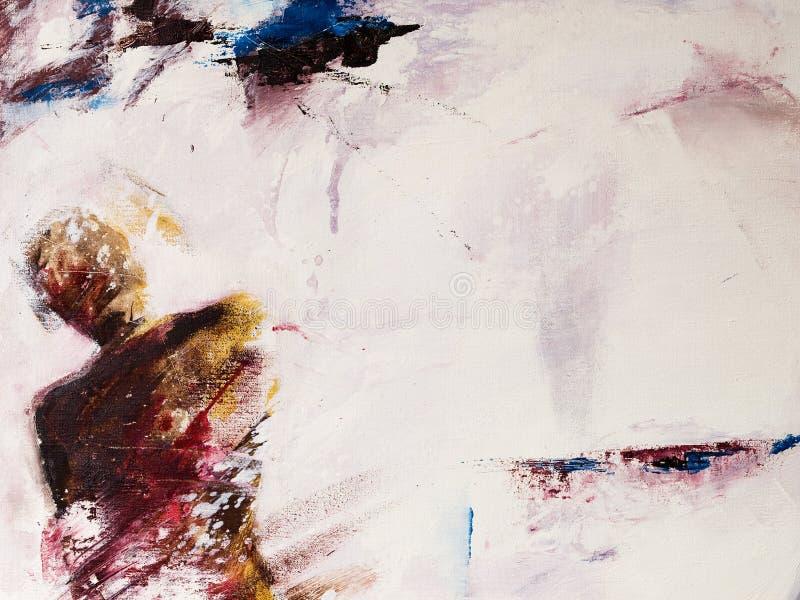 Pintura de acrílico moderna de una persona de pensamiento libre illustration