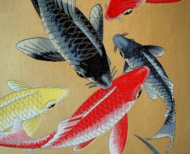 Pintura de bambu tradicional fotos de stock
