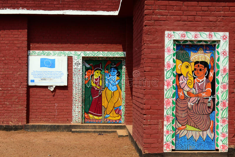 Pintura de Bengala Patachitra imagenes de archivo