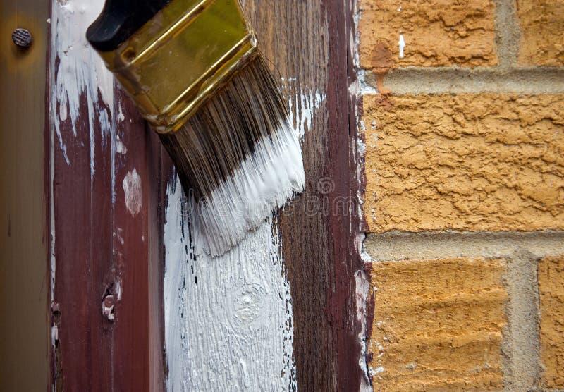 Pintura de casa foto de archivo libre de regalías