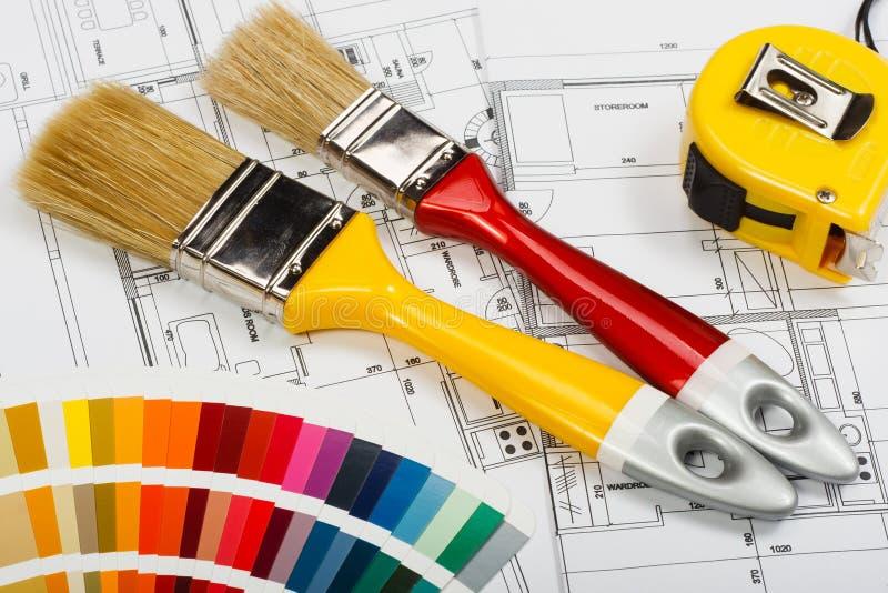 Pintura de casa imagens de stock