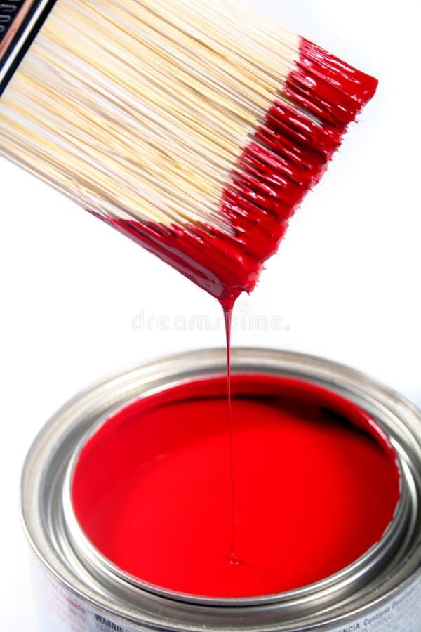 Pintura de casa do látex fotografia de stock