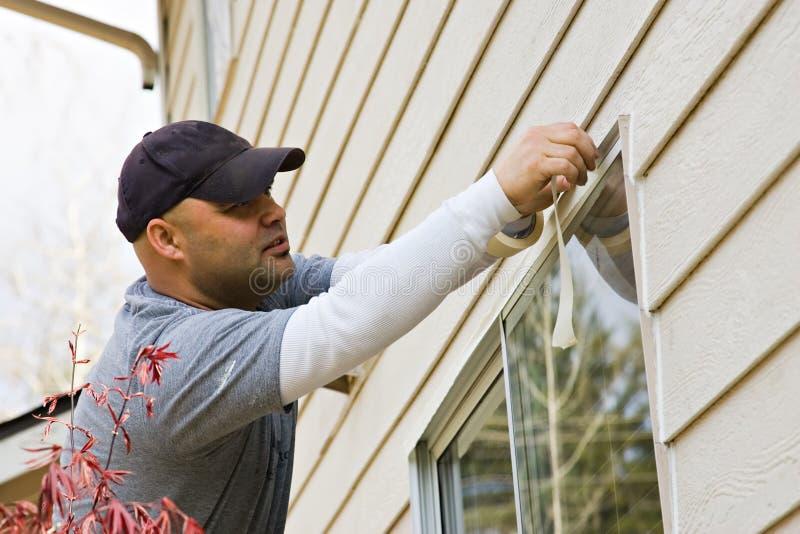 Pintura de casa exterior fotos de archivo libres de regalías