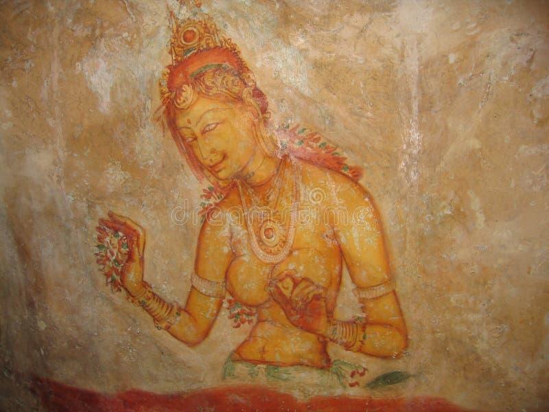 Pintura de cuevas, Sri Lanka fotografía de archivo libre de regalías