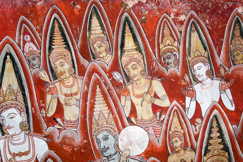 Pintura de Dambulla imagenes de archivo
