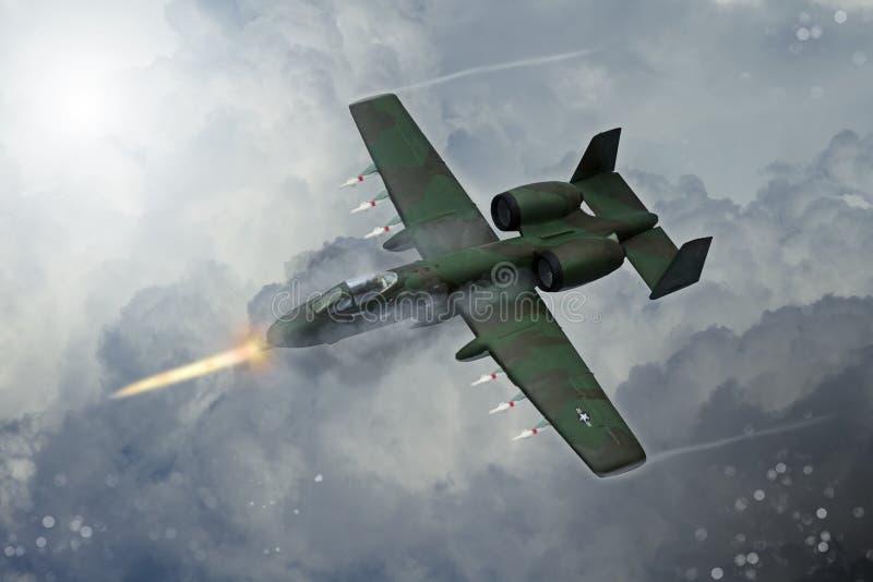 Pintura de Digitaces de aviones militares modernos ilustración del vector