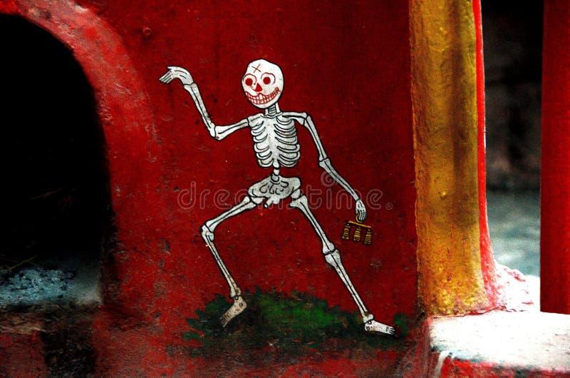 Pintura de esqueleto imagens de stock