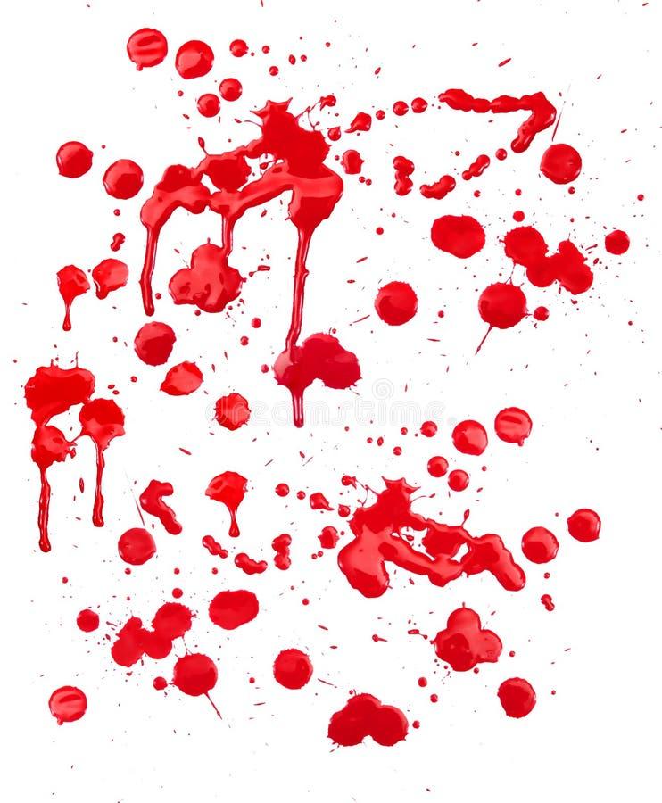 A pintura de Grunge espirra borrões ilustração stock