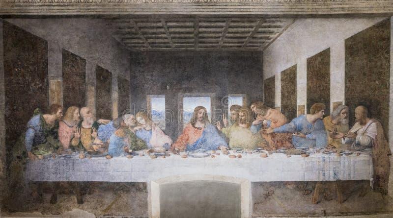 Pintura de la última cena fotografía de archivo