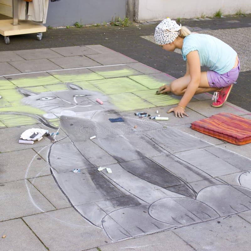 Pintura de la calle, Geldern, 2012, Alemania imagen de archivo