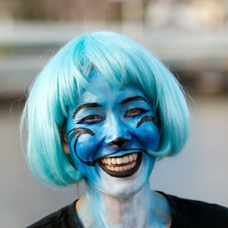 Pintura de la cara imágenes de archivo libres de regalías