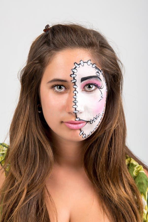 Pintura de la cara imagenes de archivo