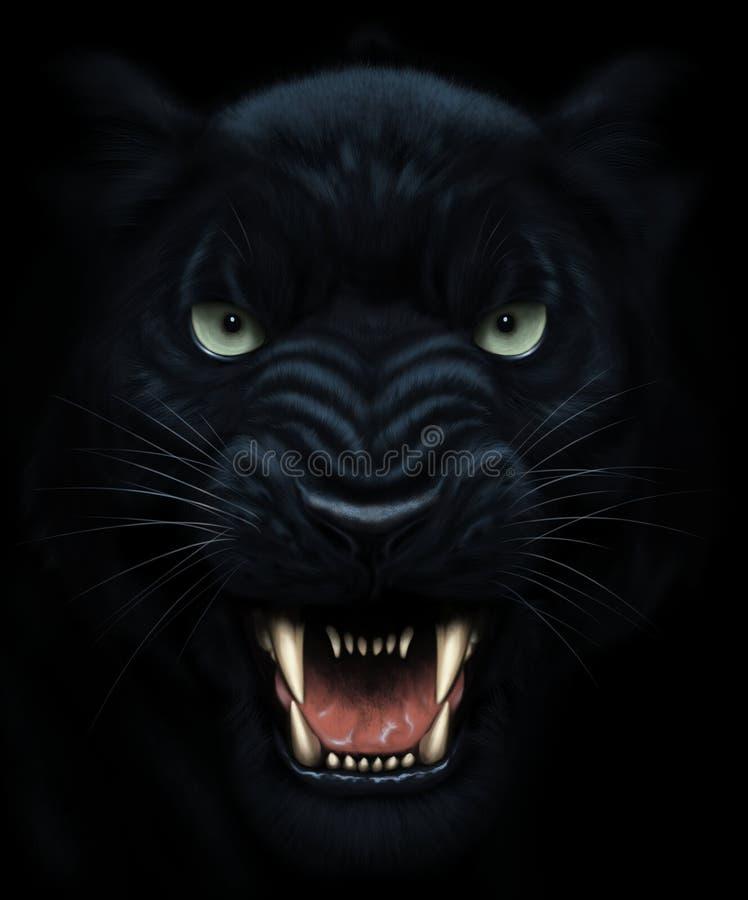 Pintura de la cara de la pantera ilustración del vector