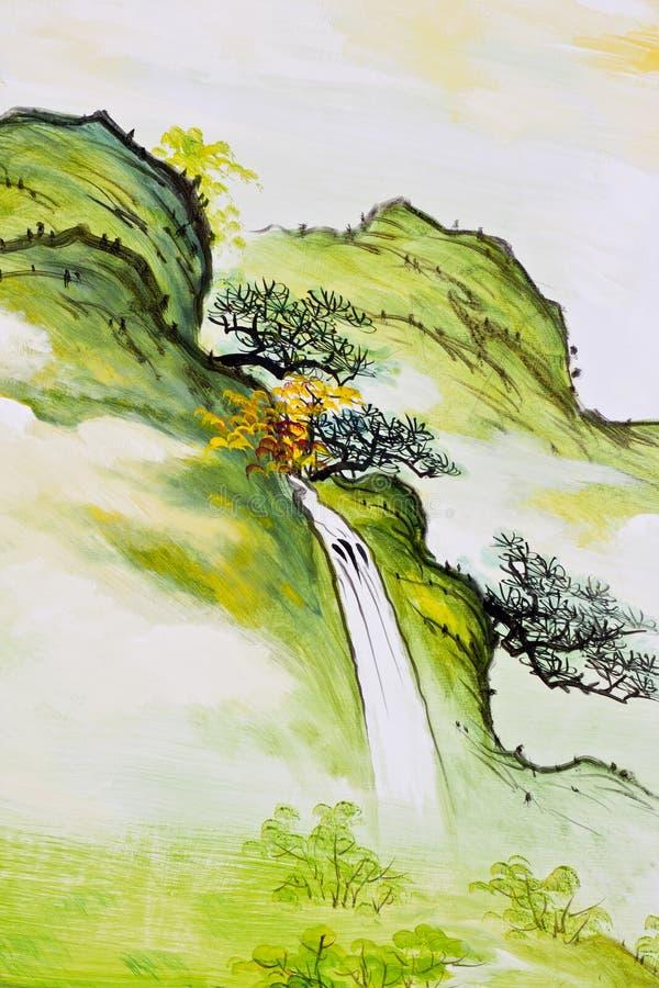 Pintura de la cascada libre illustration