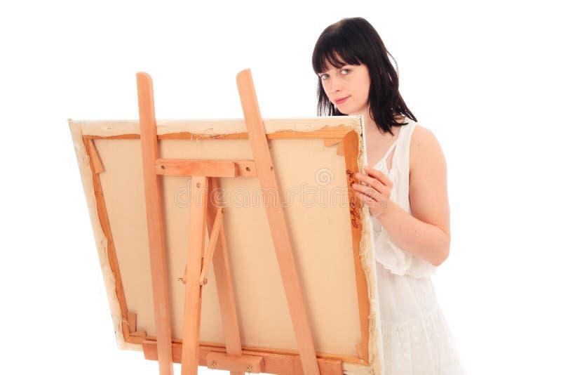Pintura de la mujer joven foto de archivo