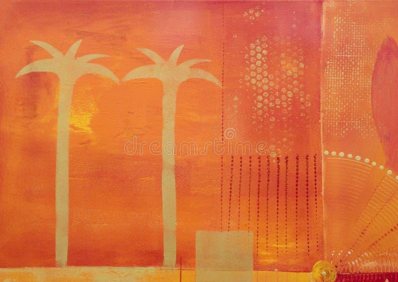 Pintura de la palmera foto de archivo libre de regalías