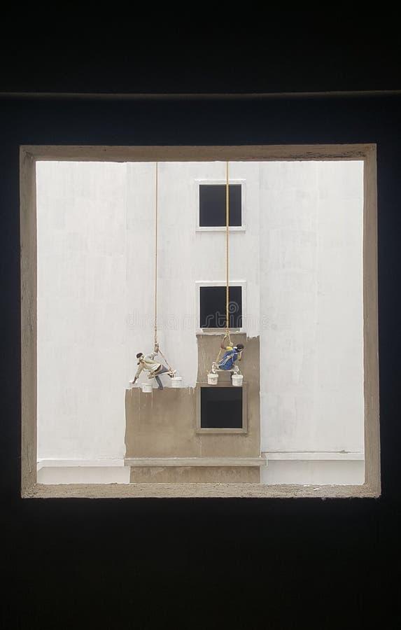 Pintura de la pared foto de archivo