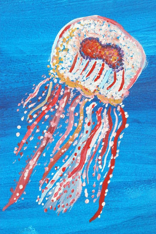 Pintura de las medusas fotografía de archivo libre de regalías