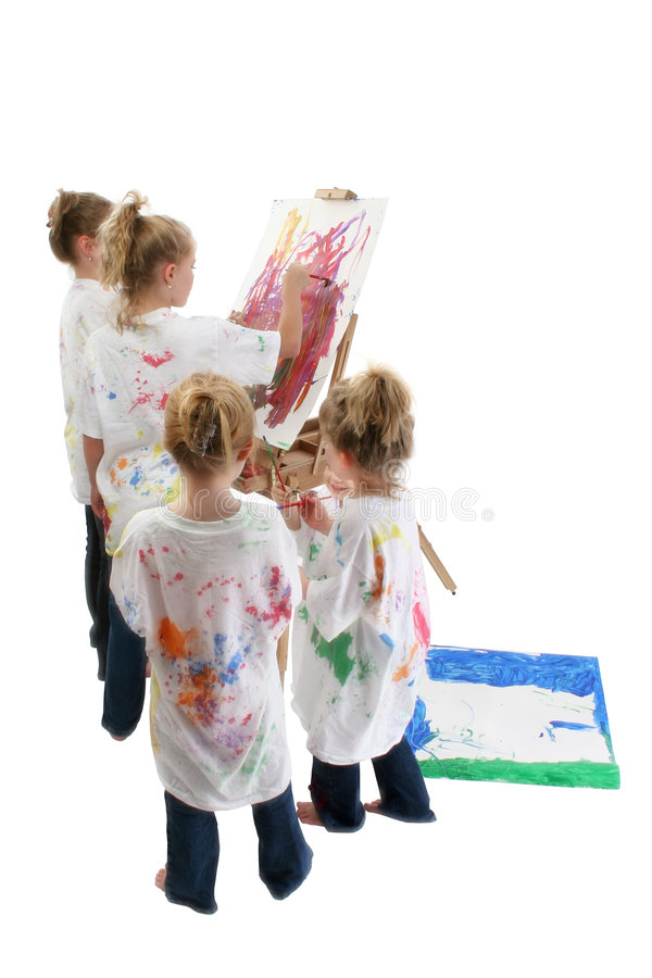 Pintura de los niños fotografía de archivo