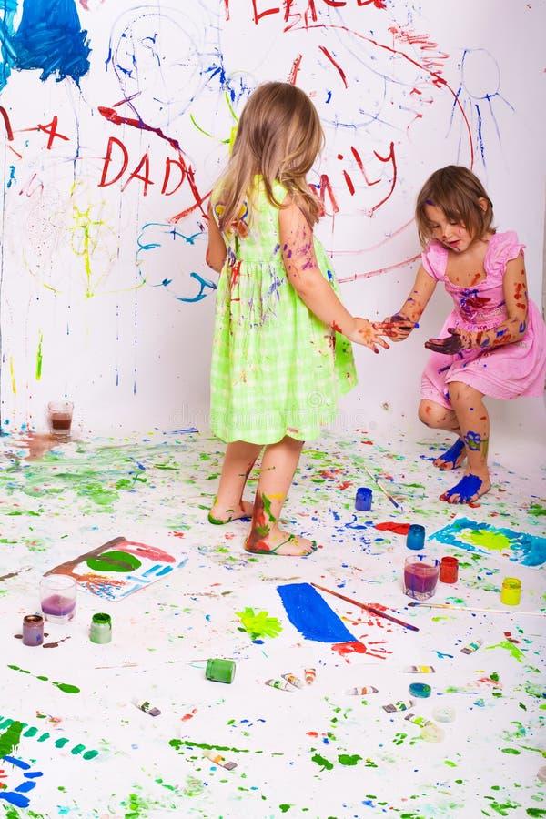 Pintura de los niños imagenes de archivo