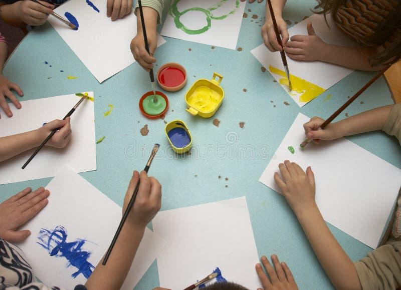 Pintura de los niños fotografía de archivo libre de regalías