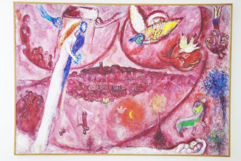Pintura de Marc Chagall, Marc Chagall Museum, Niza, Francia fotos de archivo