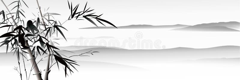 Pintura de paisagem ilustração do vetor