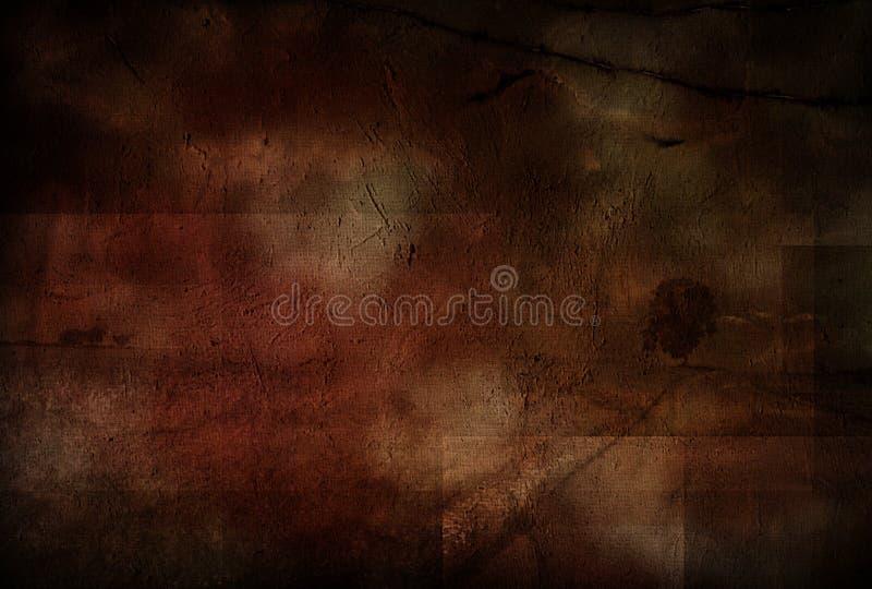 Pintura de paisagem suja ilustração do vetor