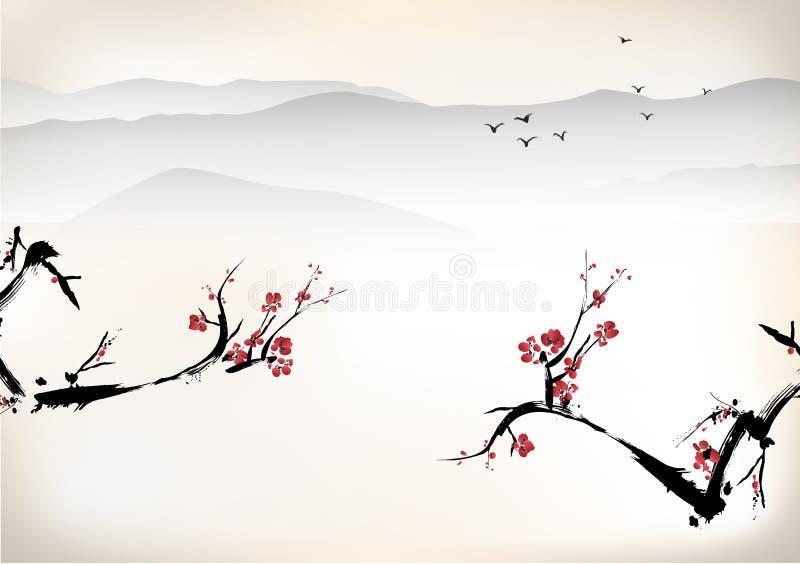 Pintura de paisaje libre illustration