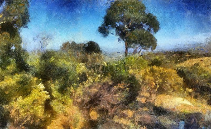 Pintura de paisaje fotografía de archivo libre de regalías