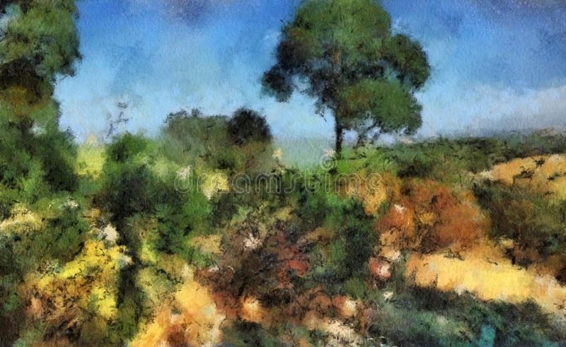 Pintura de paisaje foto de archivo libre de regalías
