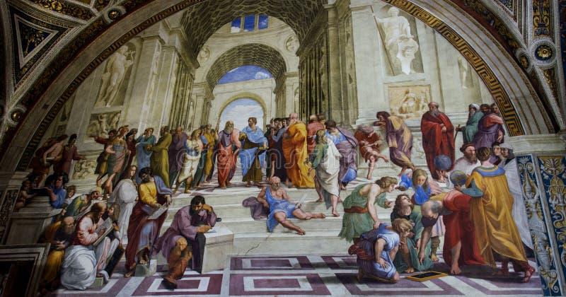 Pintura de pared de Raphael Sanzio imagen de archivo