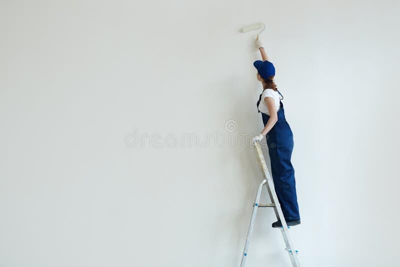 Pintura de parede fotografia de stock