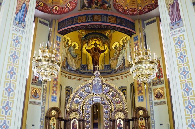 Pintura de parede na igreja em Lvov imagens de stock