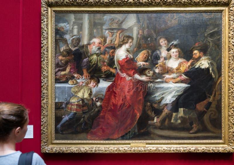 Pintura de Paul Rubens no inEdinburgh escocês da galeria nacional fotografia de stock
