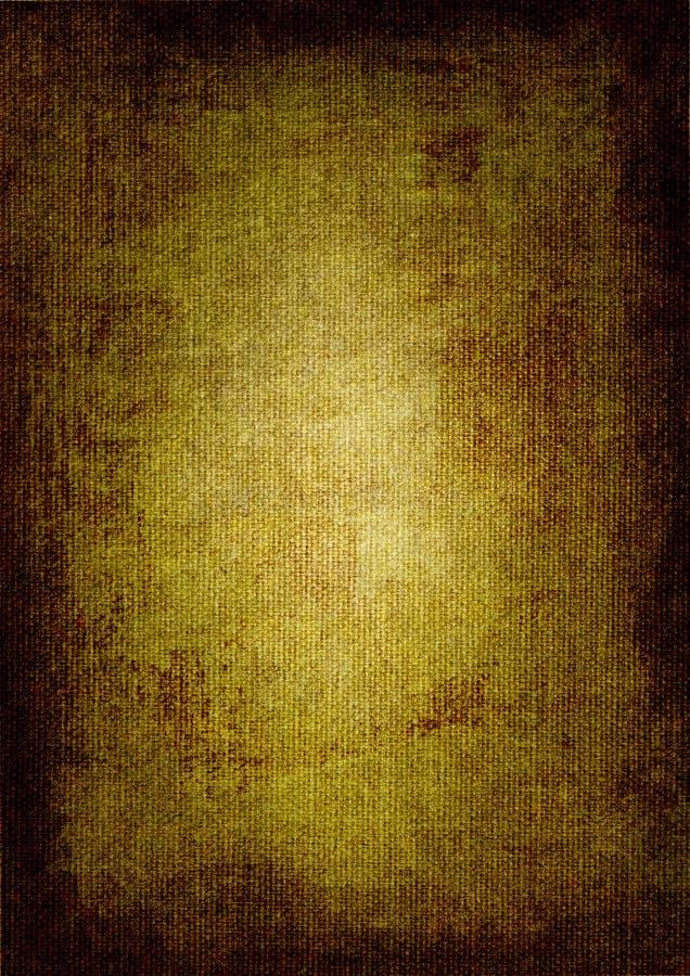 Pintura de petróleo del marrón oscuro en lona ilustración del vector
