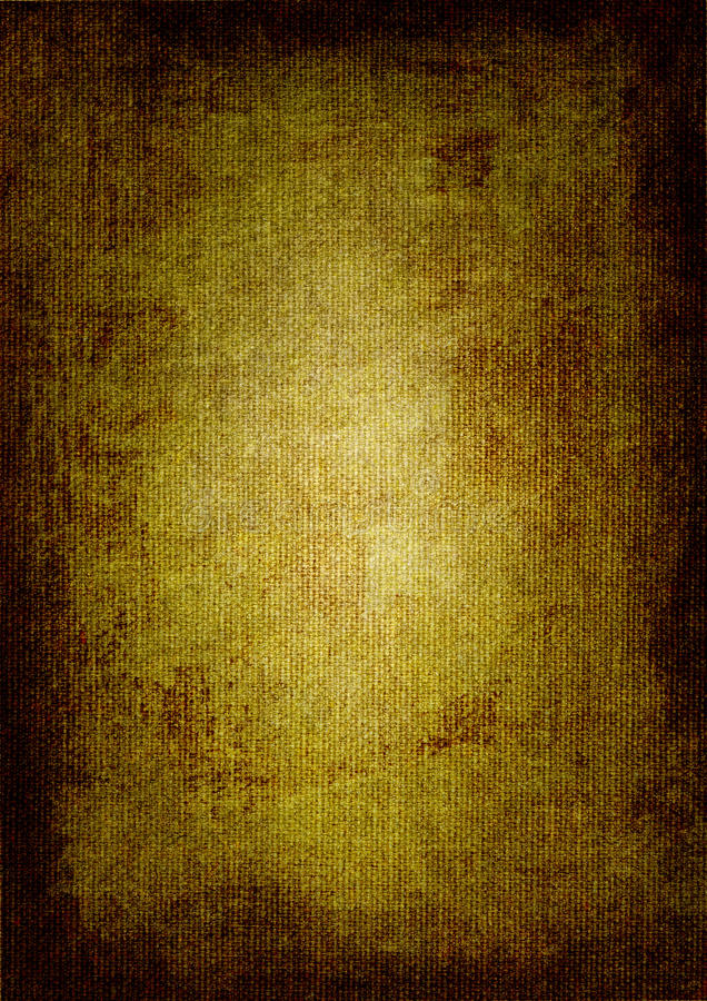 Pintura de petróleo do marrom escuro na lona ilustração do vetor