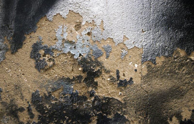 Pintura de prata de lasca da textura velha da parede imagem de stock royalty free