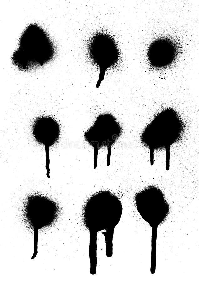 Pintura de pulverizador ilustração stock