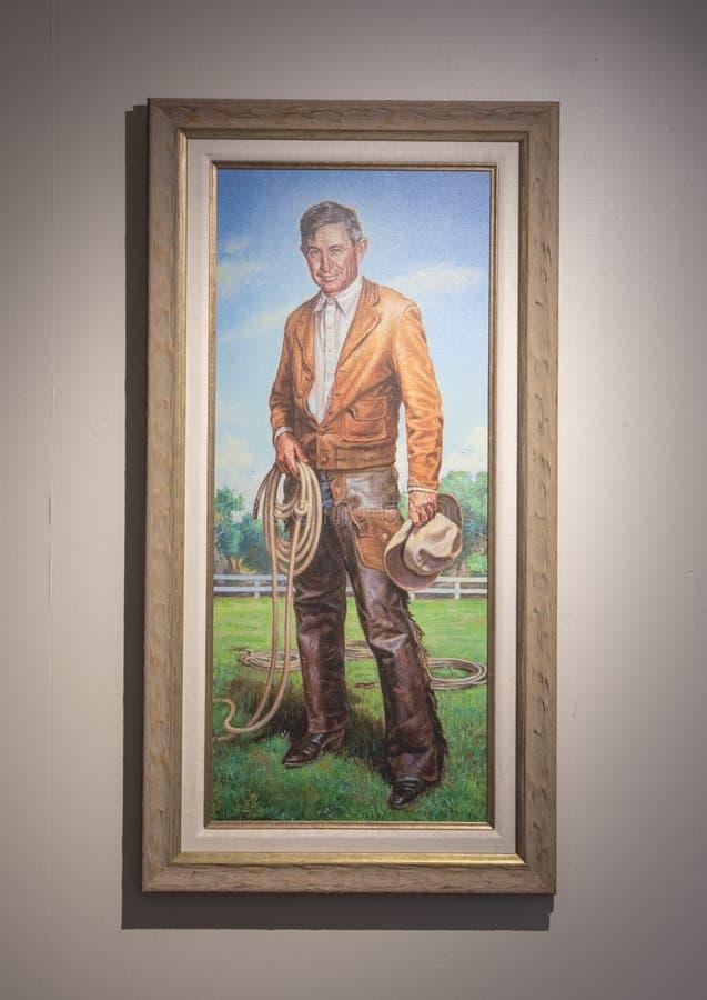 Pintura de Rogers de Charles Banks Wilson, Claremore, Oklahoma imágenes de archivo libres de regalías